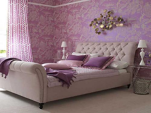 清雅的紫色营造浪漫的卧室环境