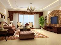 26.8万东方太阳城四居室中式设计