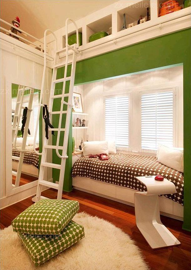 充满童趣的儿童房飘窗装修