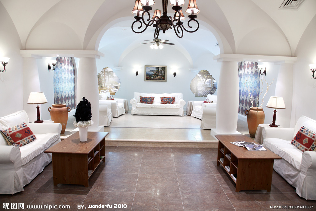 地中海风格客厅装修效果
