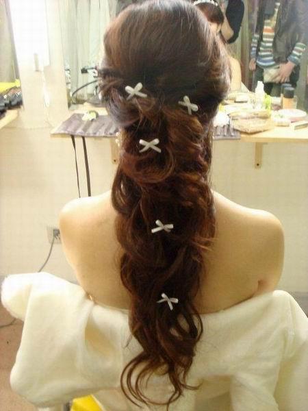 发型、饰品展示