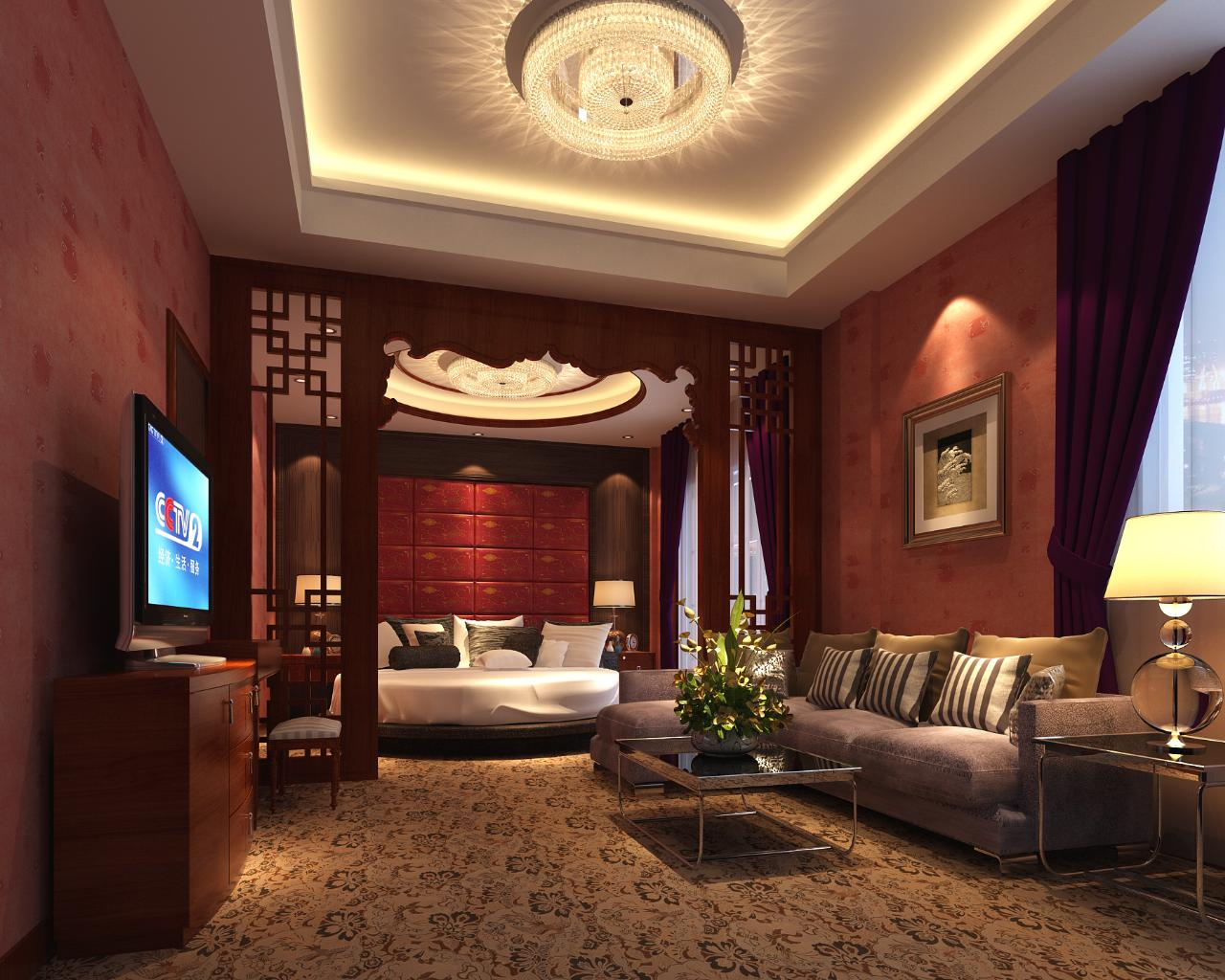 酒店设施齐全,装修豪华典雅,融欧式古典园林风格和现代设计风格为