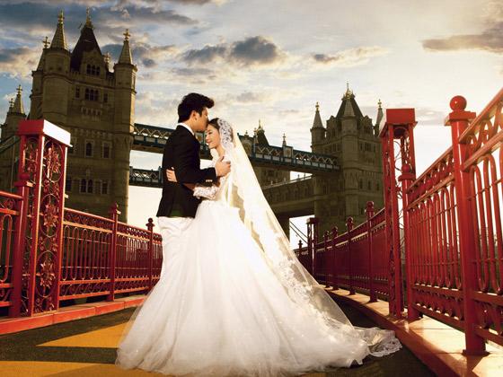 伦敦塔桥 艺术照