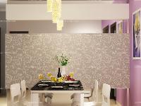 银、紫色打造全新现代风格客厅家装