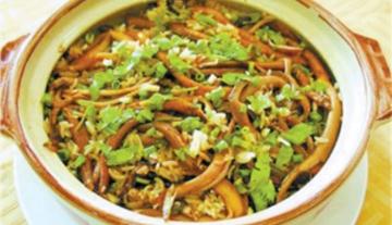 蒜仔黄鳝煲仔饭(荷香)