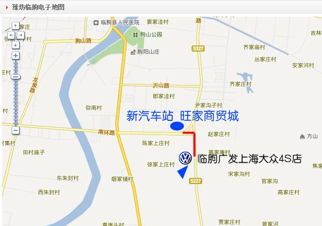 临朐县城街道地图