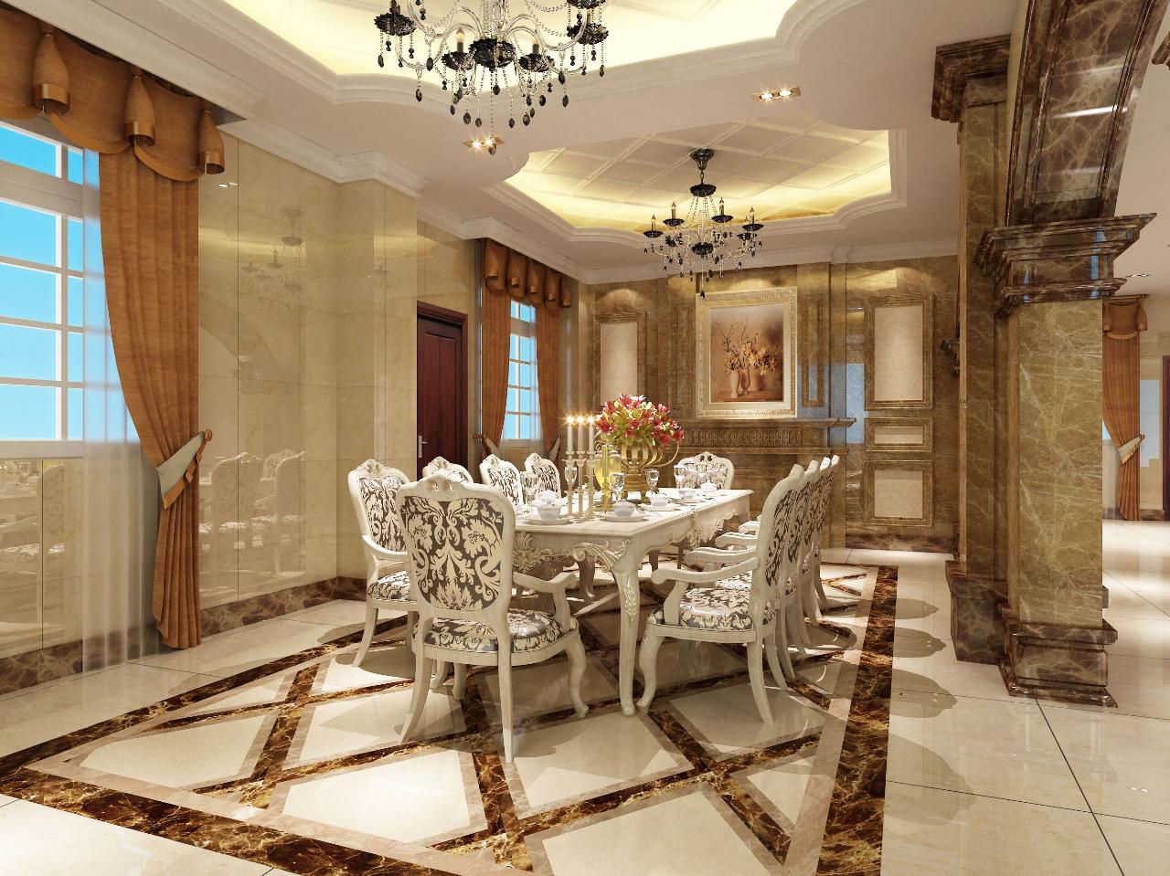 庄焕阳设计作品:莆田欧式别墅室内设计--庄焕阳设计-餐厅; 庄焕阳; 欧