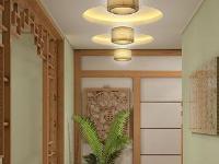 简中式餐厅吊顶效果图8套 打造古朴典雅的