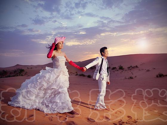 婚纱连贯之绿洲婚纱照样片