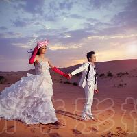 婚纱系列之沙漠婚纱照样片
