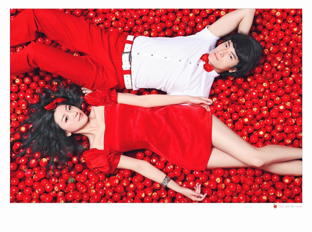 情侣照之――-红苹果