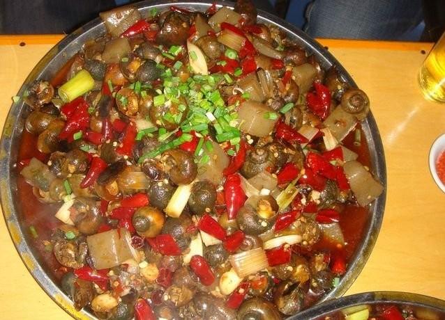 自贡美食――炒田螺