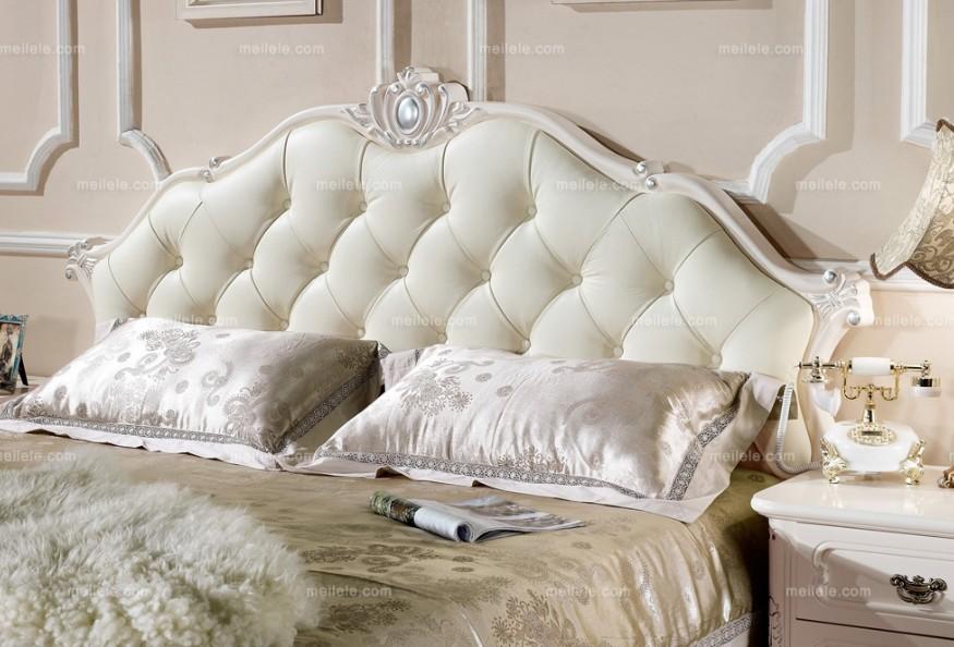 床结构 排骨架床 配件 品牌五金件 颜色 荷花白描银边 风格 欧式田园