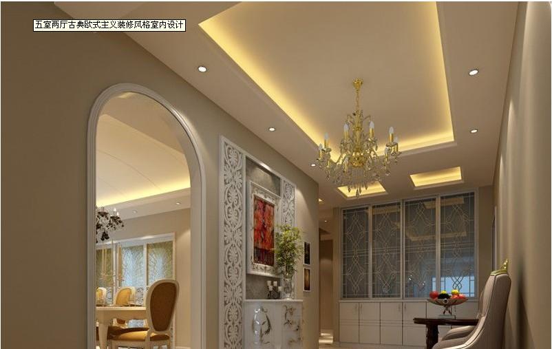 五室两厅古典欧式主义装修风格室内设计