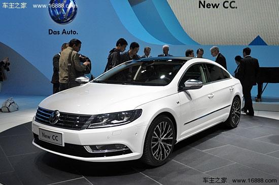 汉中一汽大众新款cc车展首发 换上家族式前脸