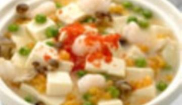【做法】 三虾豆腐