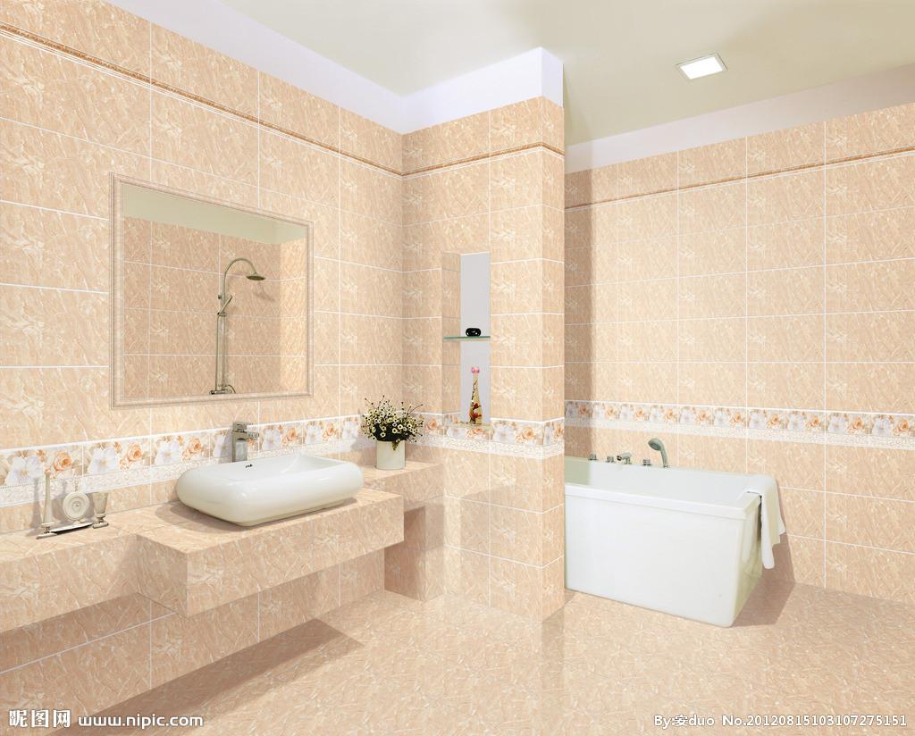 顺辉瓷砖设计图__室内设计; 关注脚底的风景 9款瓷砖拼贴美丽浴室