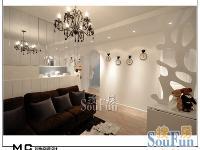 64平田园风格一居室装修实景图