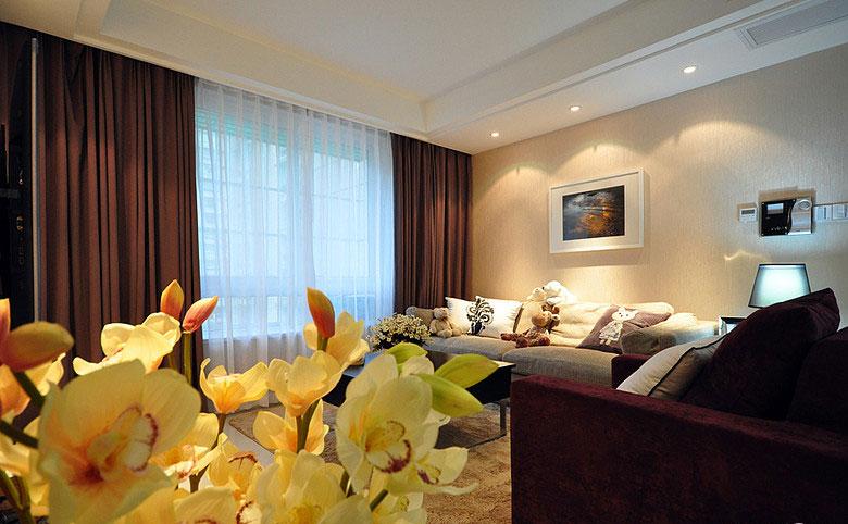平两室两厅,完成的效果非常满意,我就是喜欢这样简单干净、素高清图片
