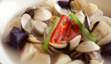 淮山紫薯浸白贝