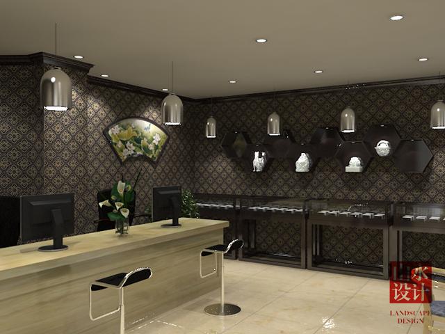雪莲酒店航空售票(玉器)厅空间设计