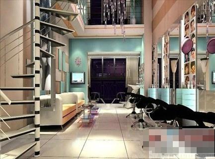 美发店装修效果图_家居街