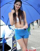 中国房车锦标赛车模斗艳 超短裙秀惹火身材