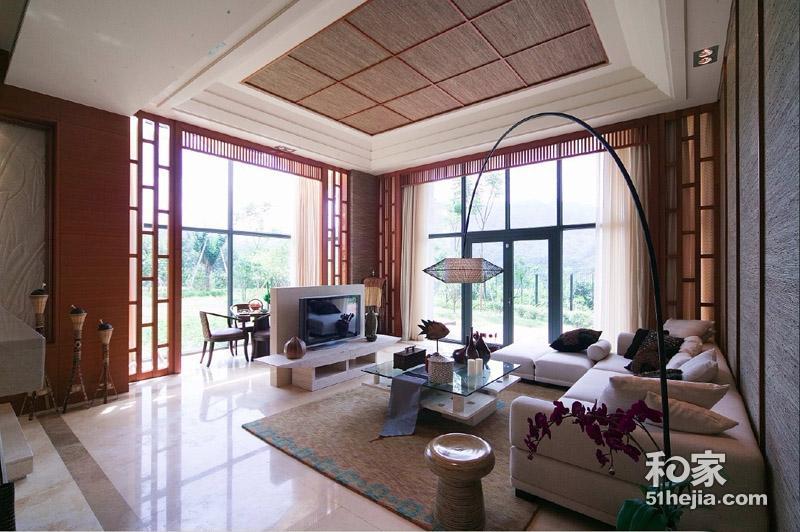 20万打造230平新中式错层别墅