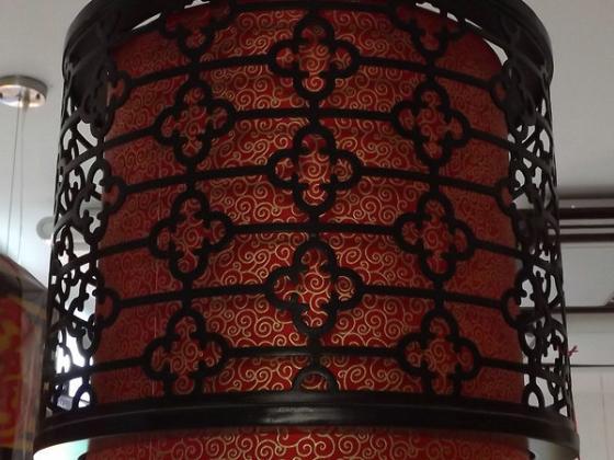 一品灯饰丝线灯中国红9278