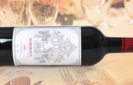 59.8元法国进口乔立韦公爵葡萄酒AOC