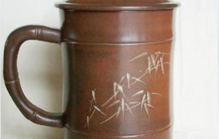 钦州坭兴陶/茶杯/茶具/礼品/办公杯/珍陶轩/金竹茶杯 088