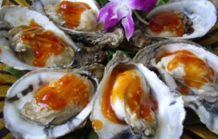 三亚美食 海鲜牡蛎 海蚝 优惠券 三亚酒店 美味清蒸生蚝一个 三亚海鲜蚝 按一个算价格