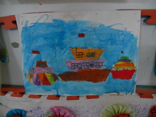 船船儿儿童画