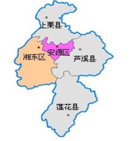 萍乡风景旅游景点地图