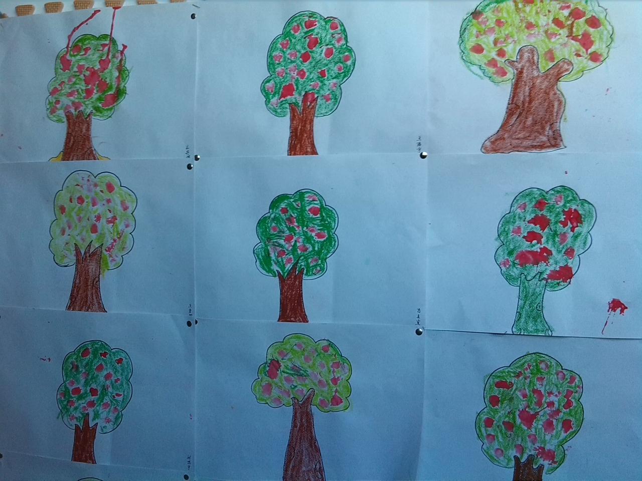 河路幼儿园樱桃班——手指点画; 小班幼儿手指点画_小班手指点画