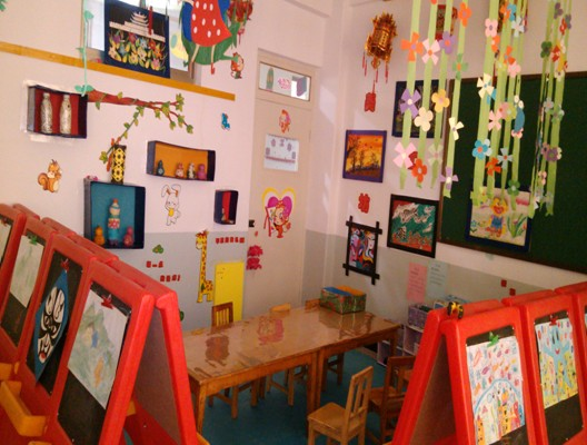 幼儿园美工区域角