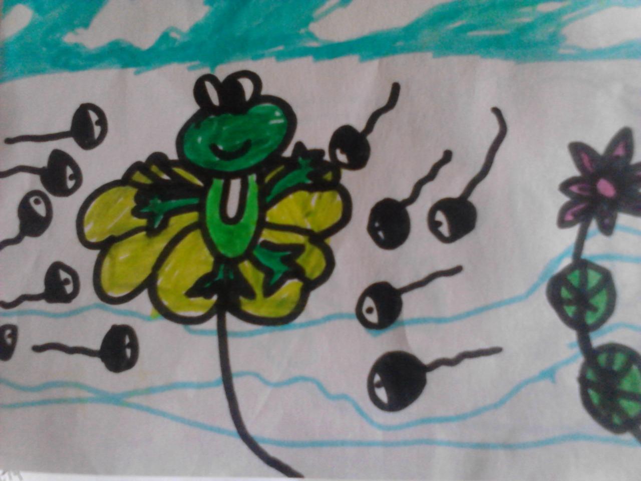 儿童自制连环画作品_幼儿故事小蝌蚪找妈妈内容|幼儿故事小蝌蚪找妈妈图片
