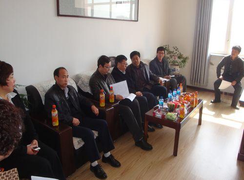 ,在林甸县花园中学召开关于支教工作对接会议.林甸教育局局长武安图片