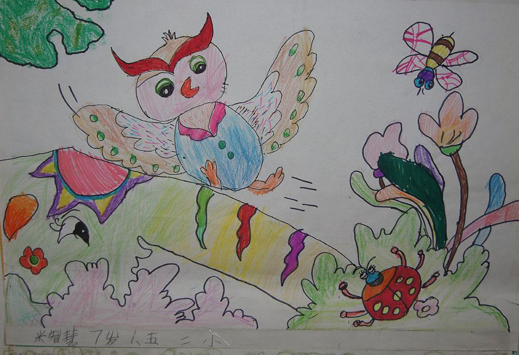学员蜡笔画作品欣赏