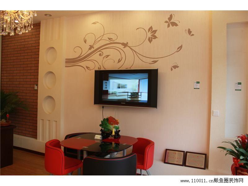 南京大眼睛硅藻泥电视背景环保材料艺术墙艺术印花; 绿森林硅藻泥