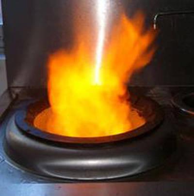 生物醇油燃烧的演示