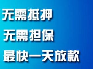 许昌无抵押信用贷款