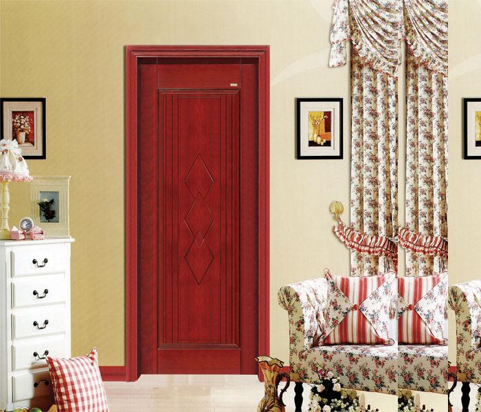 卧室门装修效果图红色