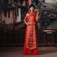 中华唐装-婚纱礼服-长裙